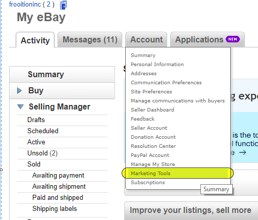 Frooition Ecommerce support: How to remove listing frame on the