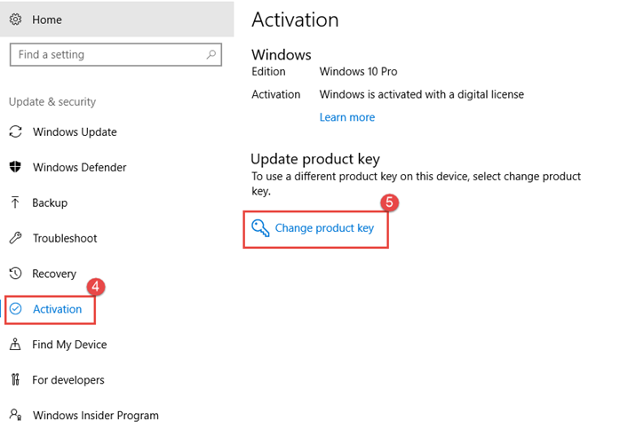 How to activate the preinstalled windows 10 trial in vpc10vpc14 once you have the key click start settings update security activation change the product key then enter the new product key then click next to ccuart Gallery