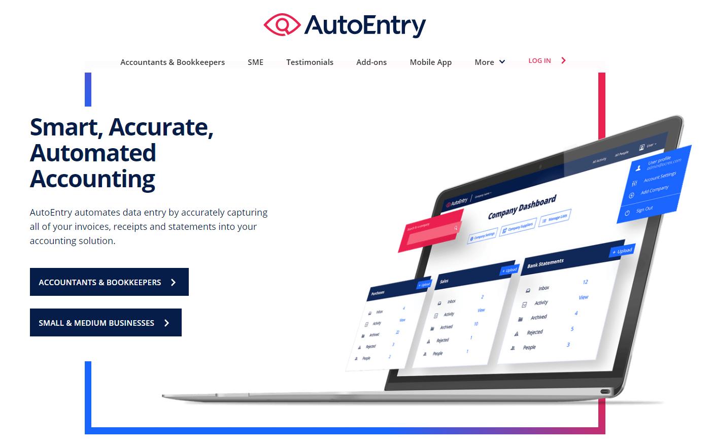 AutoEntry Homepage