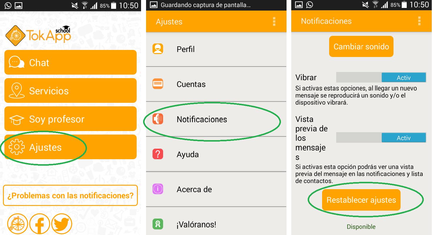 Soporte TokApp - activar notificaciones teléfonos Samsung