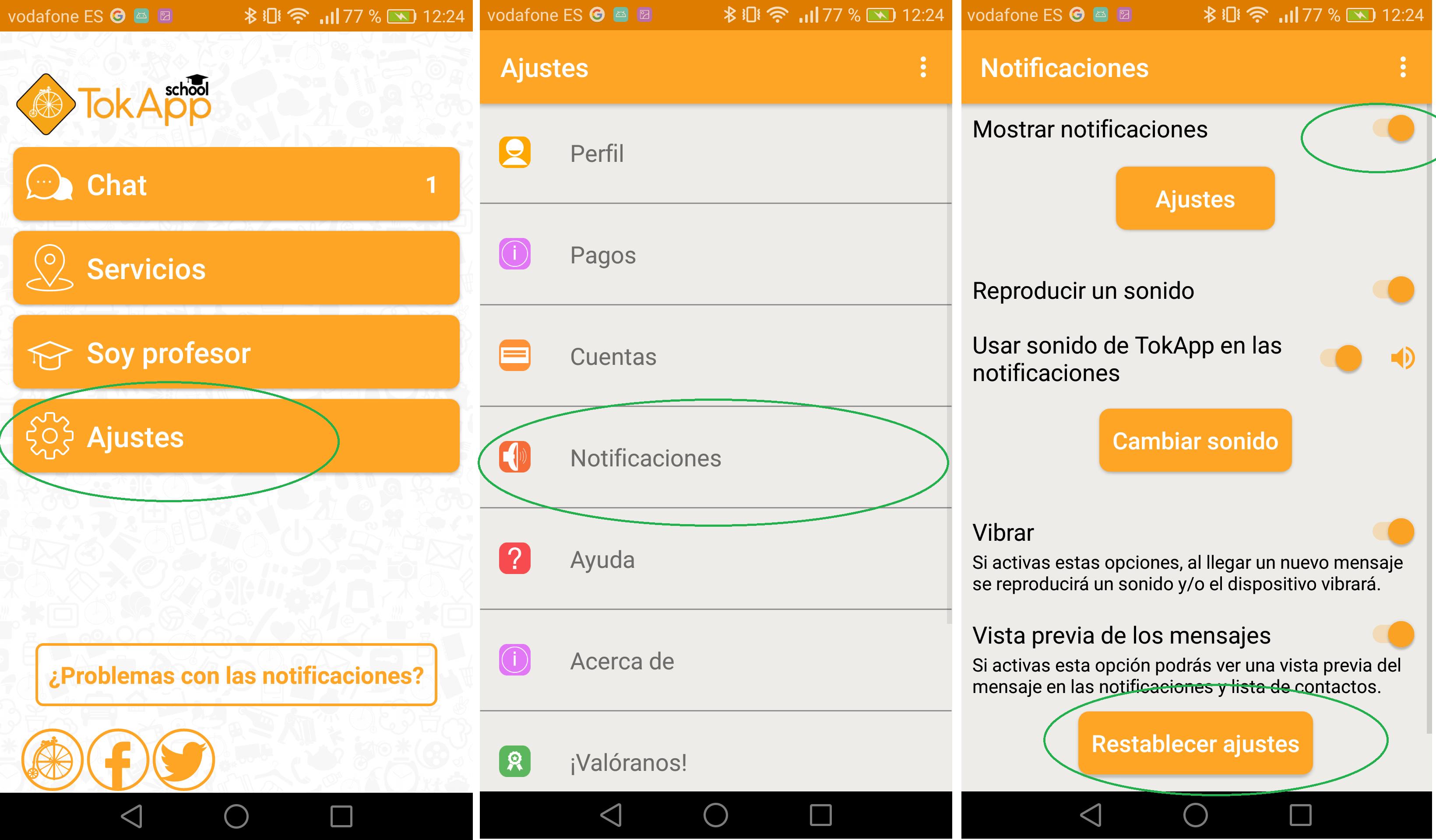 Activar notificaciones teléfonos Huawei