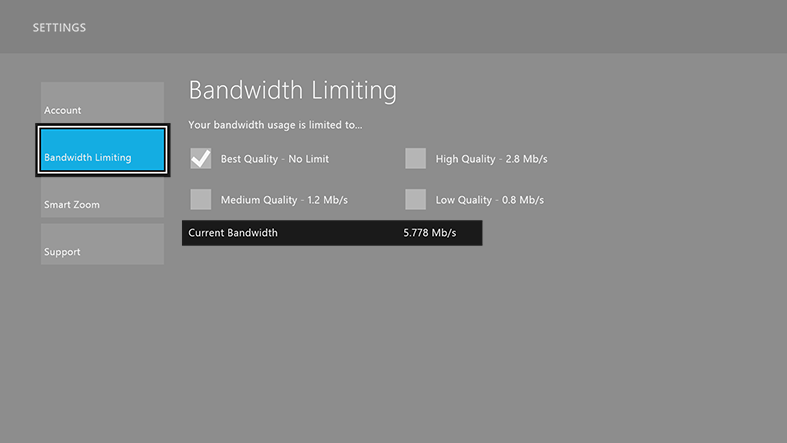 Check the bandwidth your Sling TV app is using