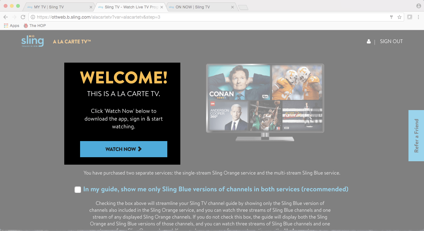 Watch Sling TV On The Google Chrome Browser