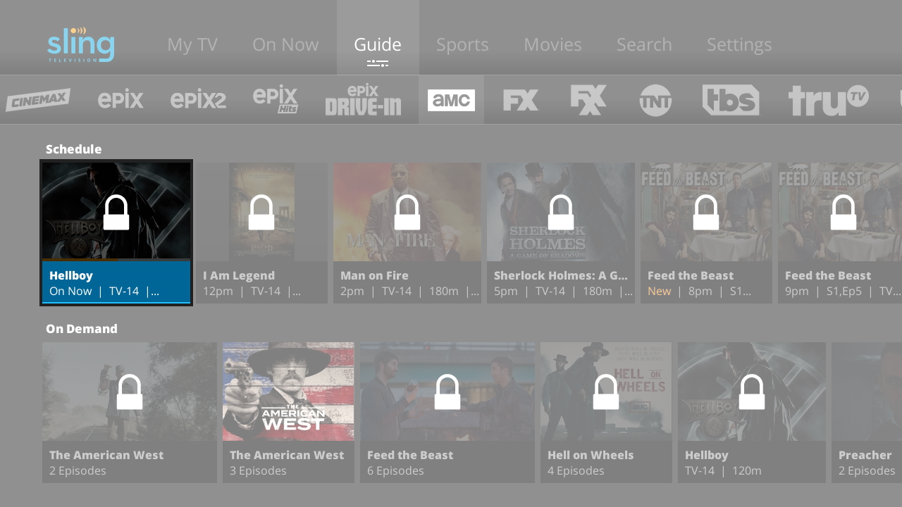 Activate parental controls on Sling TV