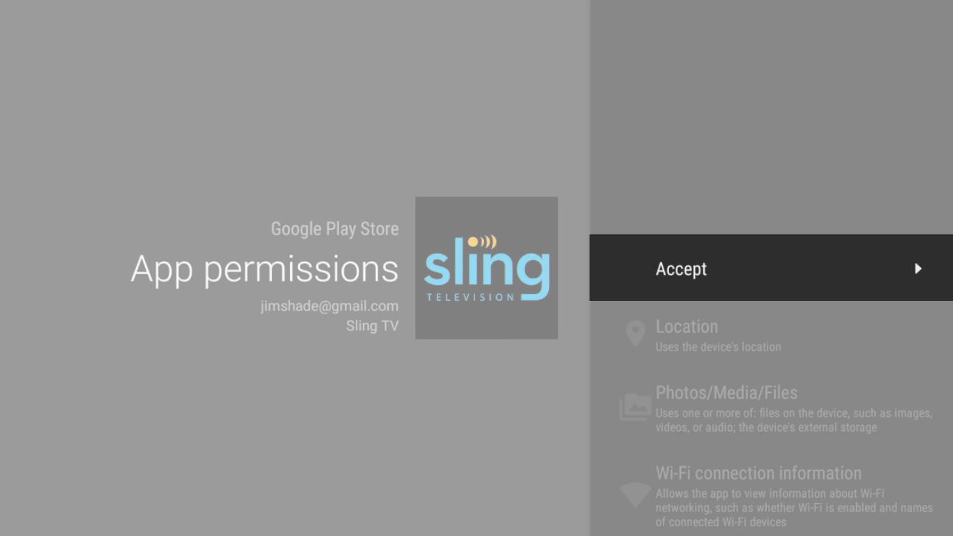 Install Sling TV on your device