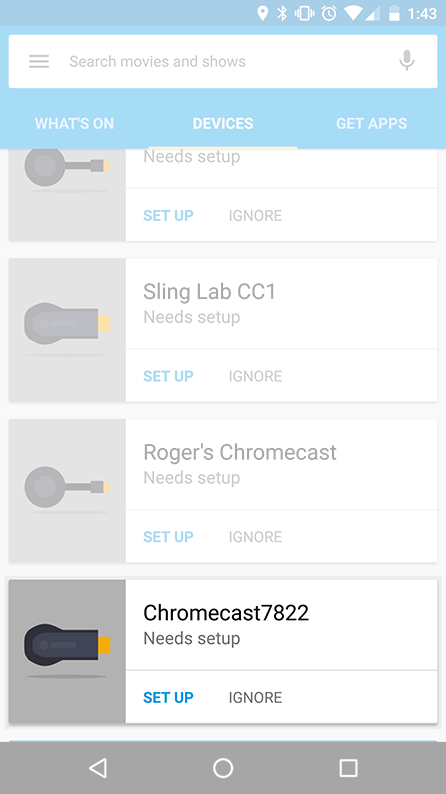Set up the Chromecast to work with Sling TV