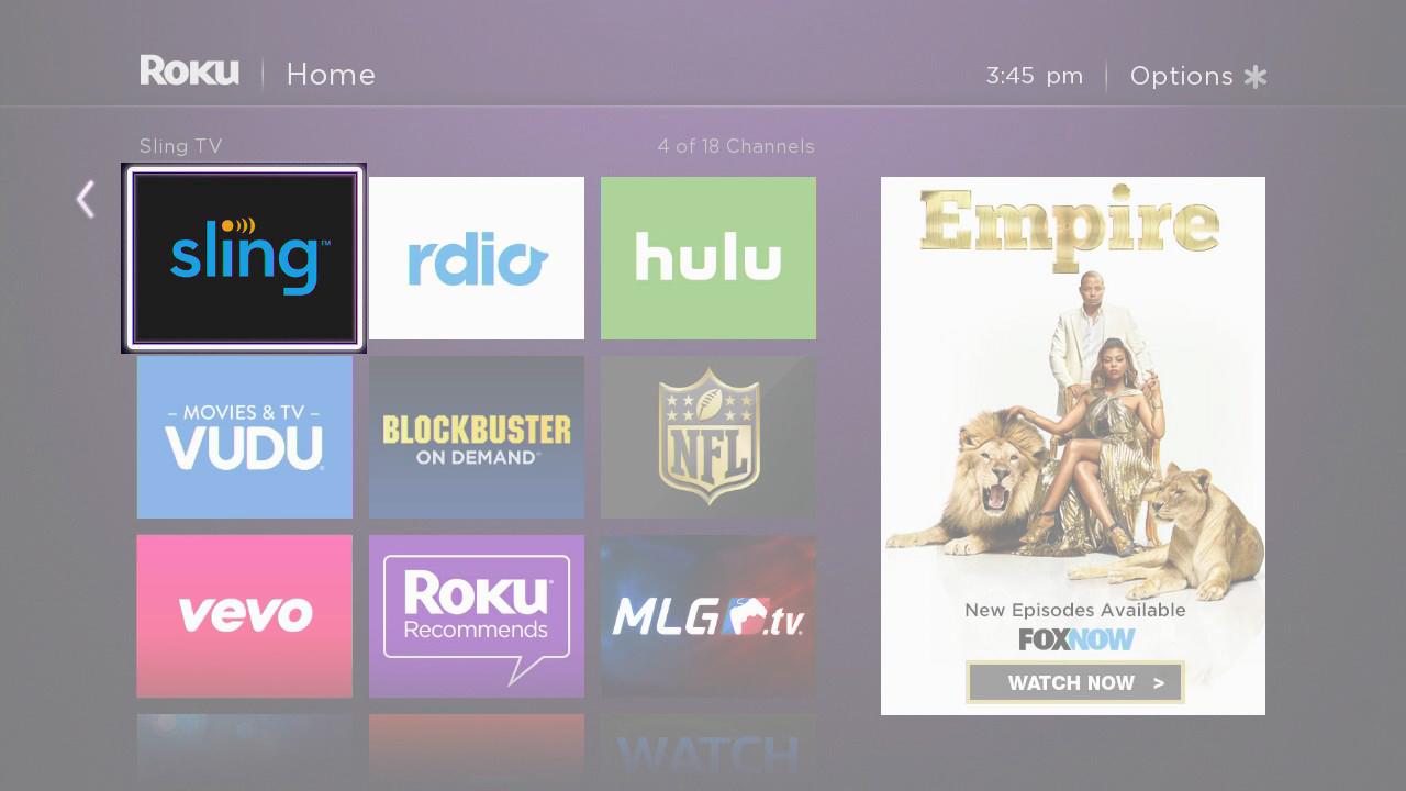 Install Sling TV on your Roku
