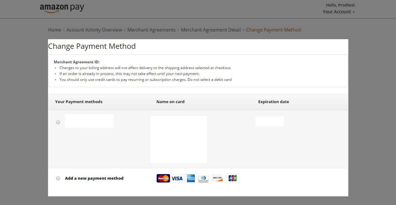 Update Your Payment Information On Amazon Pay