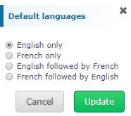 Multilingual Management : Facility