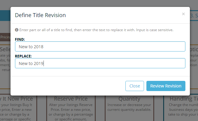 Frooition Ecommerce support: Bulk Revision v2 - Item Title