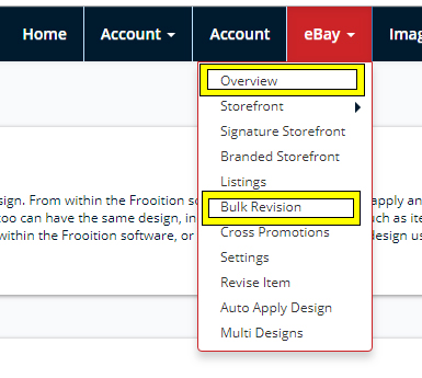 Frooition Ecommerce support: Bulk Revision V2 - Understanding the