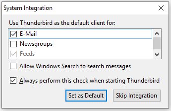 Thunderbird Application