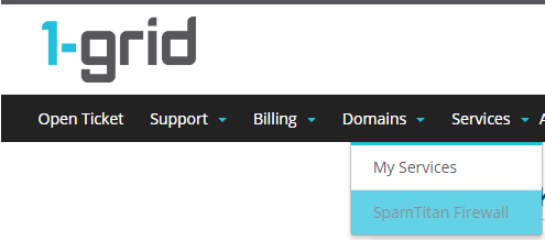 How to whitelist an email address or domain : 1-grid