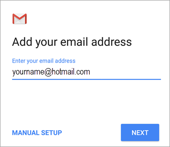 Add your email address