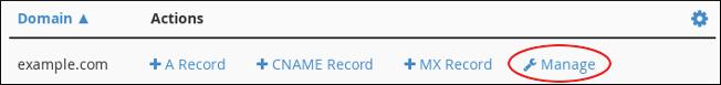cPanel - Zone Editor - Manage domain