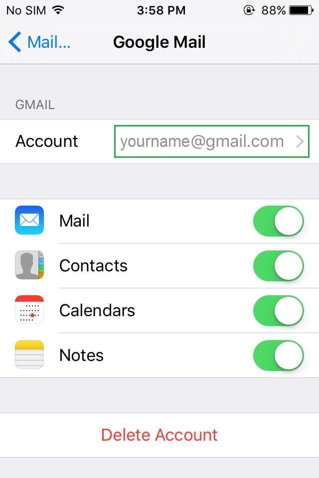 iphone email set up