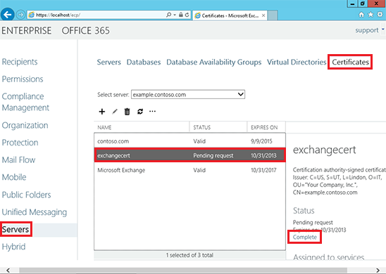ssl for exchange server 2013 complete