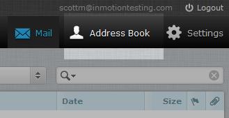 click address book icon