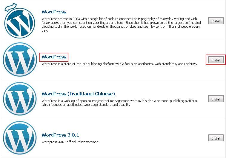 Select WordPress Option