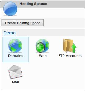 Select Domains Option from WebsitePanel