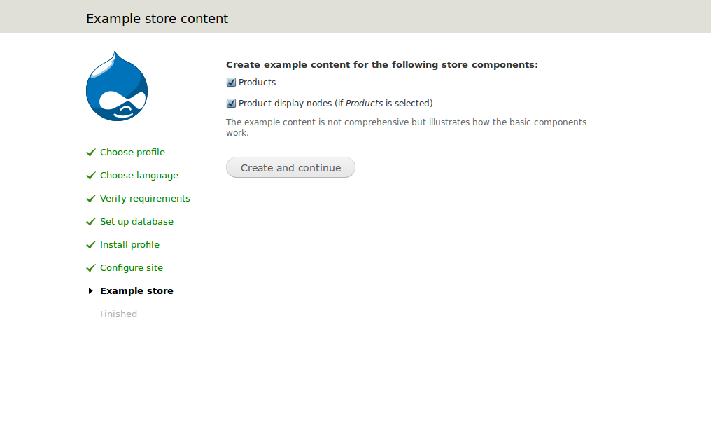 Example Content for Store Components