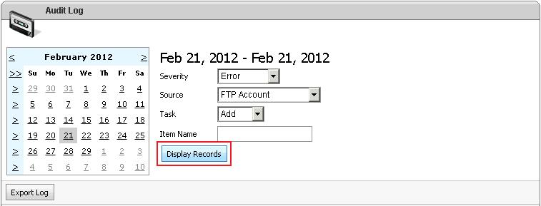 Click on Display Records After All Selection
