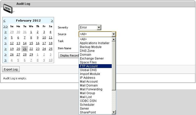 Select Source of Error