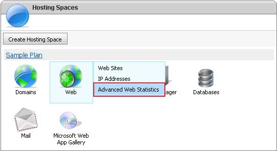 Click on Advanced Web Statistics Option