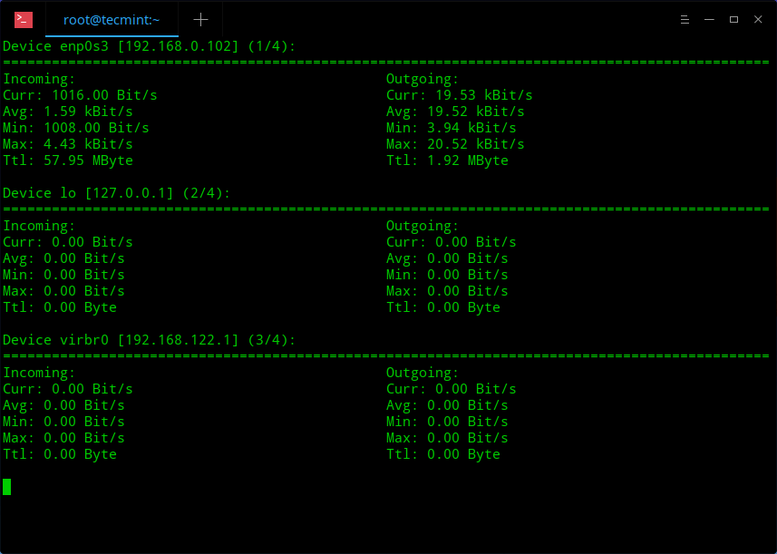 nload - Monitor Network Usage