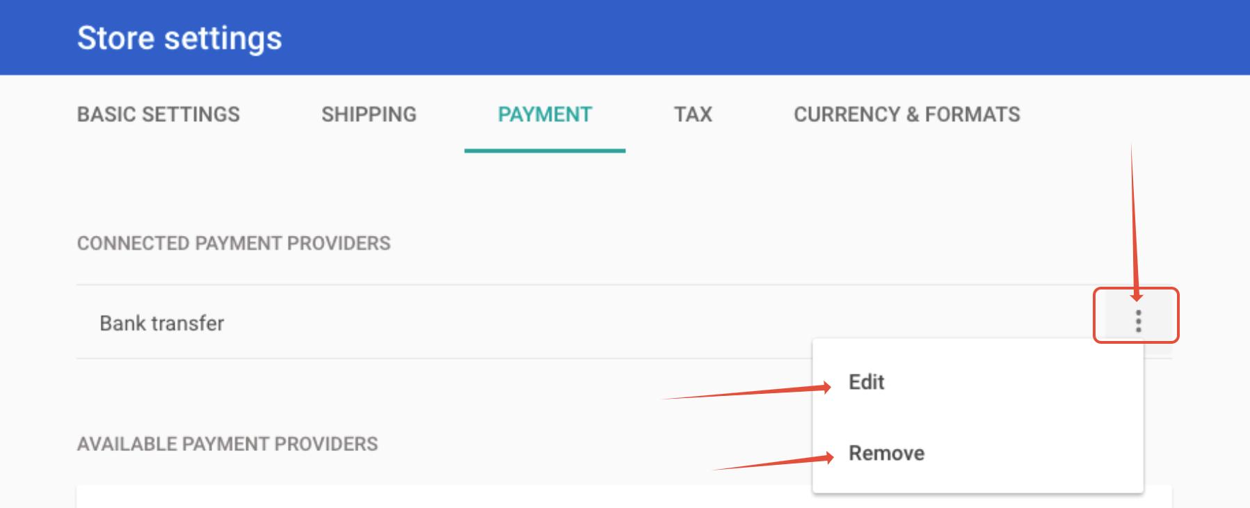Payment method management