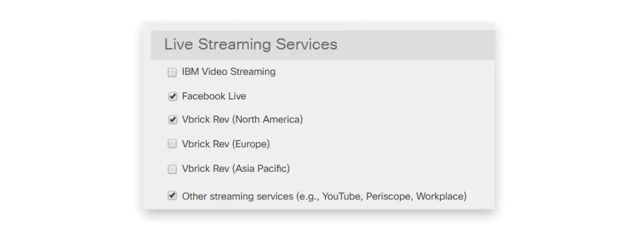 List of live streaming services