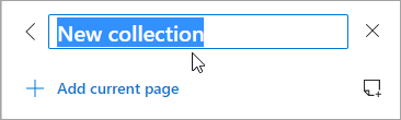 Screenshot of a collection title being edited