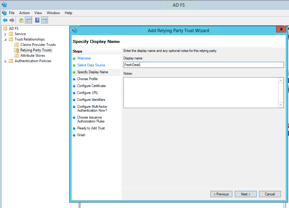 Configuring ADFS for Freshservice with SAML 2 0 : freshservice