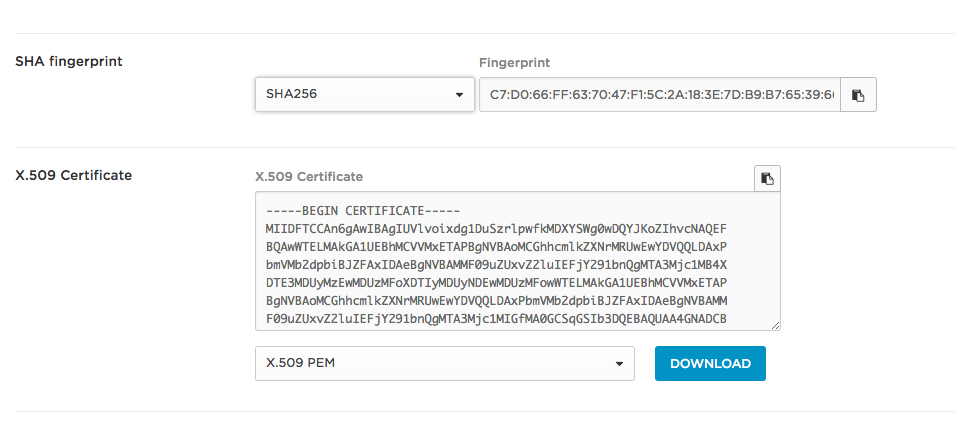 Finding the SHA-256 fingerprint from your Identity Provider (Azure