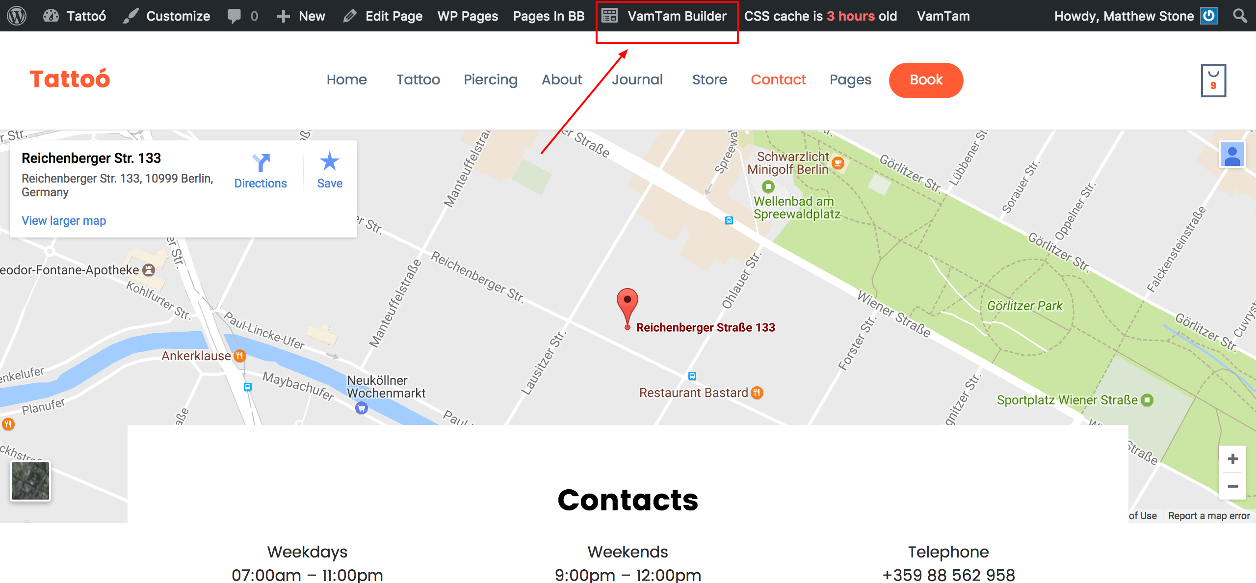 Vamtam Beaver Themes How To Change The Google Map In The Contacts - Google maps themes