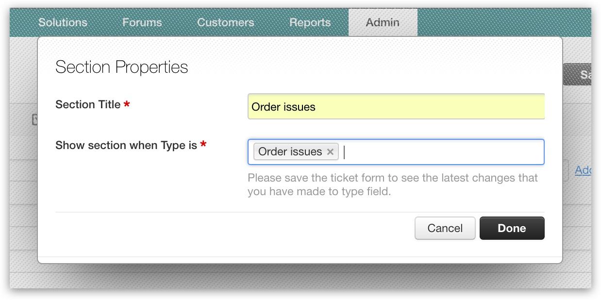 Creating dynamic forms : Freshdesk