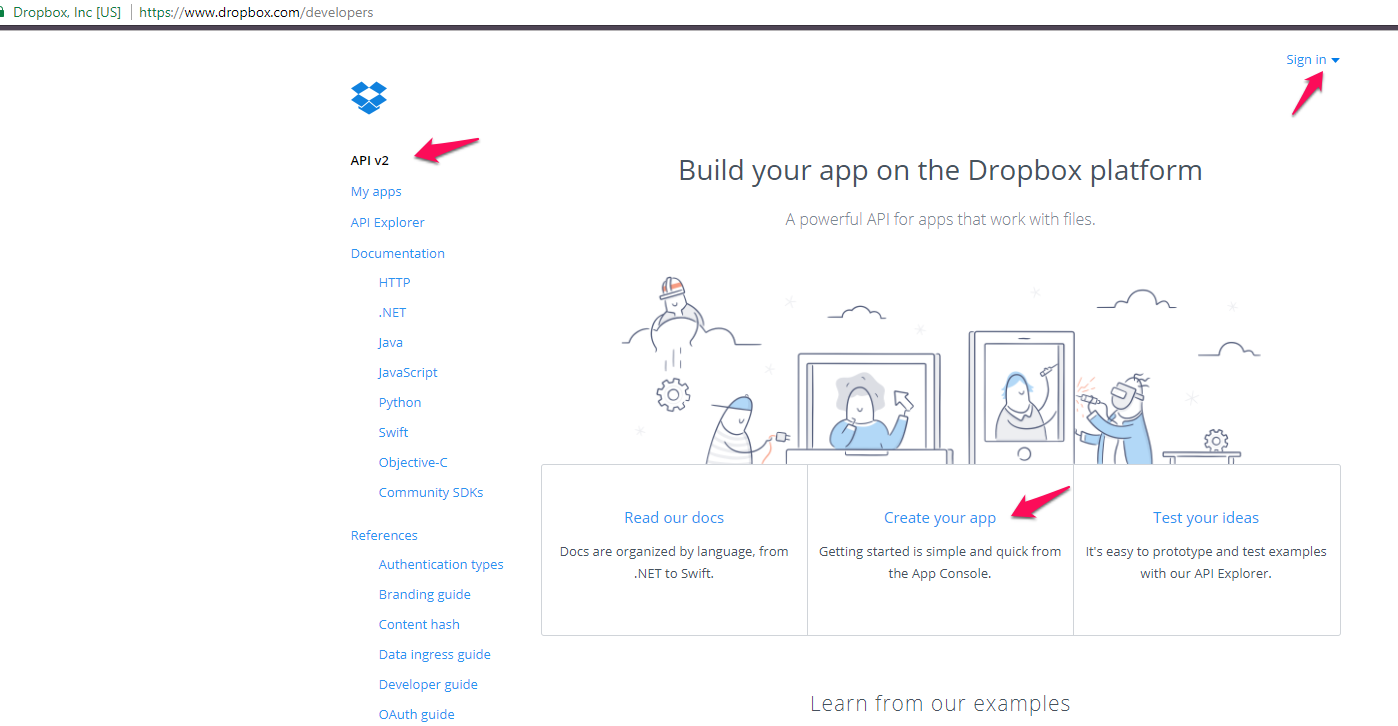 How to create API Details on your Dropbox account