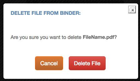 The Delete File confirmation window