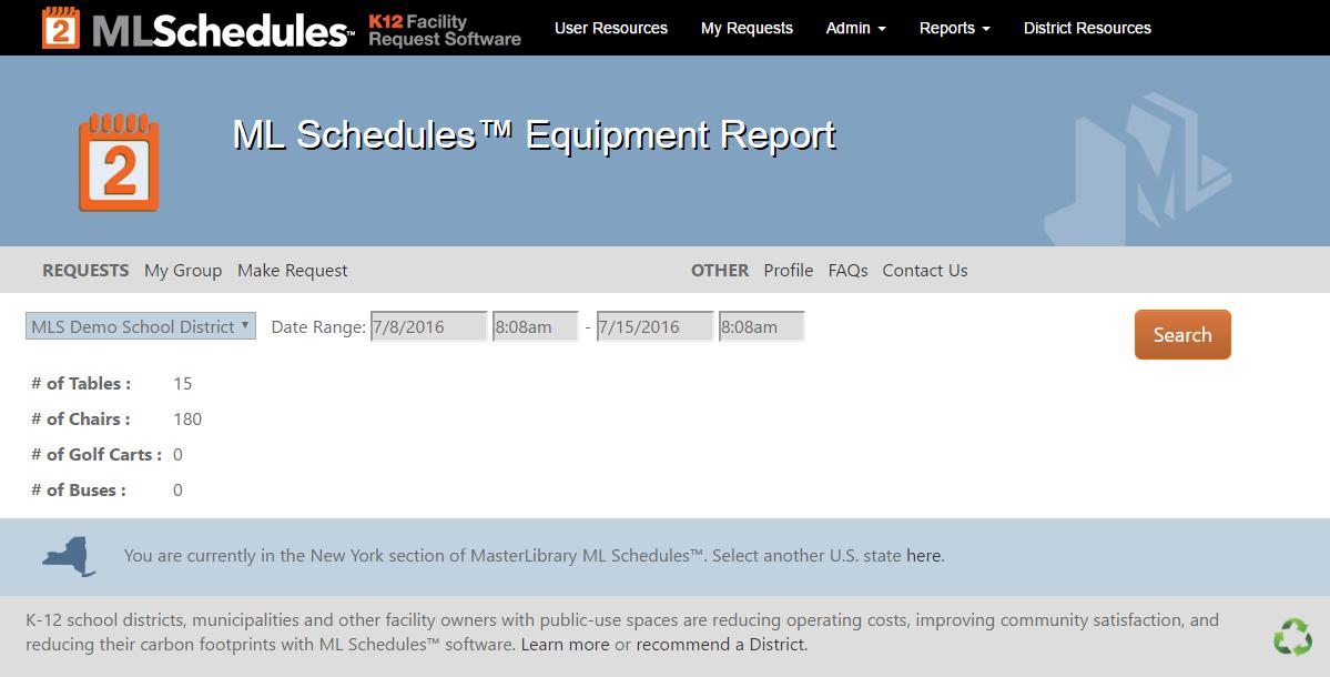 Equipment Report
