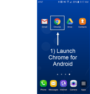 launch chrome