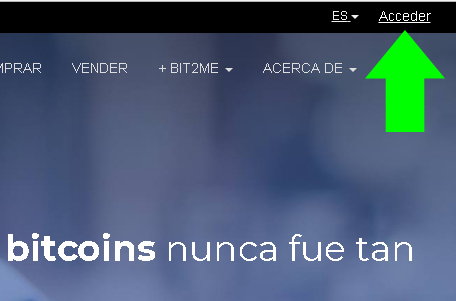 registro bit2me, como comprar bitcoins, como vender bitcoins