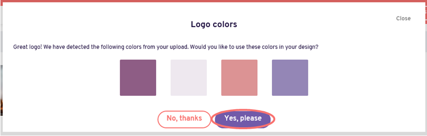 Edit design - use logo colors