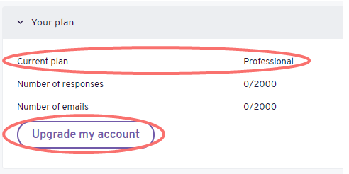 Account - change current plan