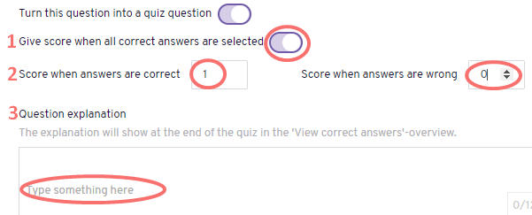 Make ranked quiz question