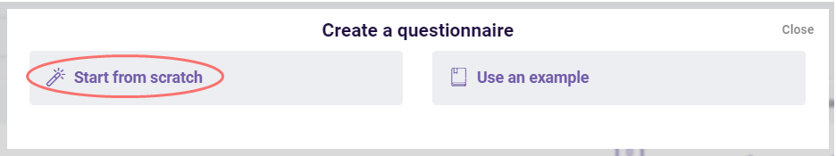 Offline survey tool - create questionnaire from scratch