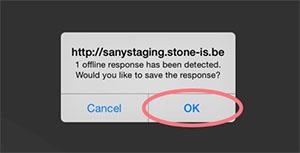 Offline survey tool - save response