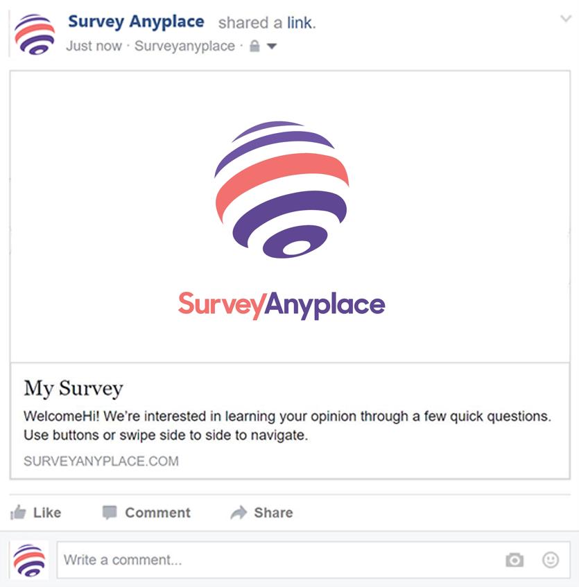 Social media facebook feed