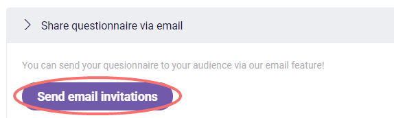 Email invitation - send email invitations