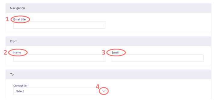 Email invitation - input sender information