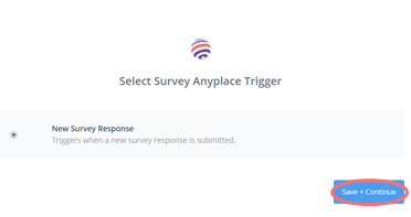 zapier new survey response - save and continue
